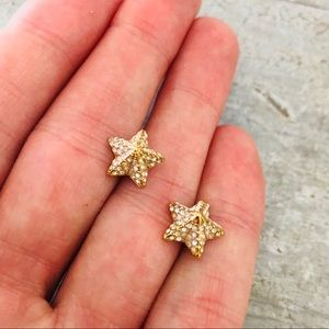 ⭐️ Coach ⭐️ Starfish Diamond Stud Earrings